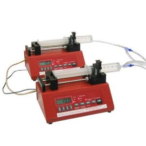 Dual One Channel 100 lb Force Syringe Pumps,  European Power Supply