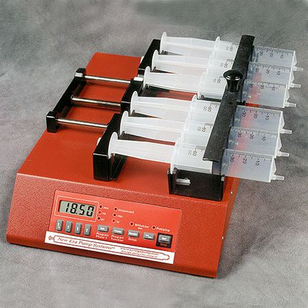 Six Channel Syringe Pump with European Power Supply